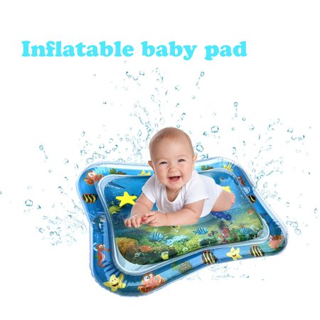 Inflatable Baby Water Mat, PVC Tummy Time Water Mat Fun Activity Play Center for Infants & Kids &Toddlers, Early Education Inflatable Patted Water Play Pad Cushion, 26 x 20'', Blue - image 8 of 8