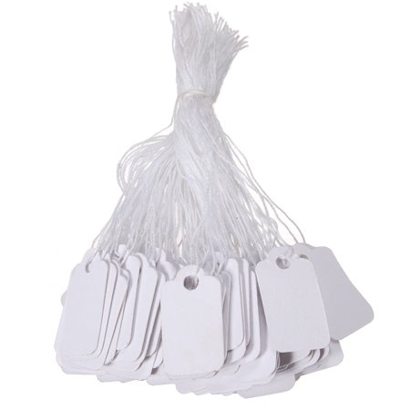 Elegiant Price Tag 500 White Strung String Tags Swing Price Jewelry Clothing Tie On Paper Labels
