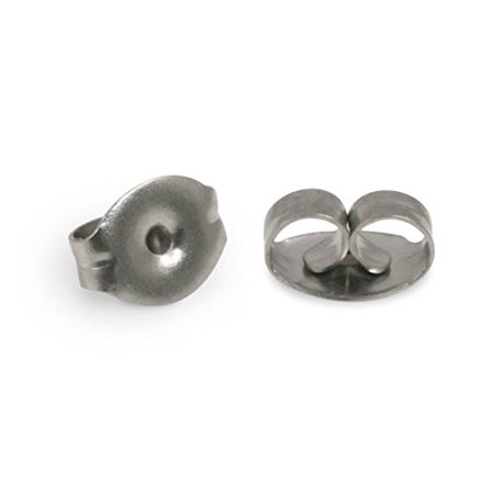 Standard Earring Backs Surgical Stainless Steel (Package of 10), For use on all standard post earrings. By JewelrySupply (Surgical Steel Post Earings)