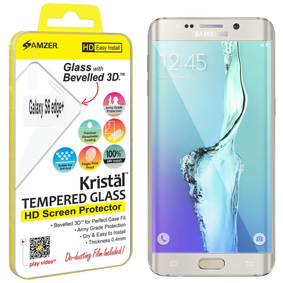 Amzer Kristal Tempered Glass HD Edge2Edge Clear Screen Protector