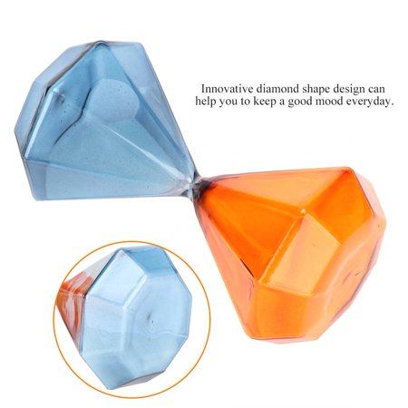 Greensen Innovative Diamond Shape Hourglass Sand Clock Sand Timer 5 Minutes Sand Glass Desk (30 Minute Sand Glass)