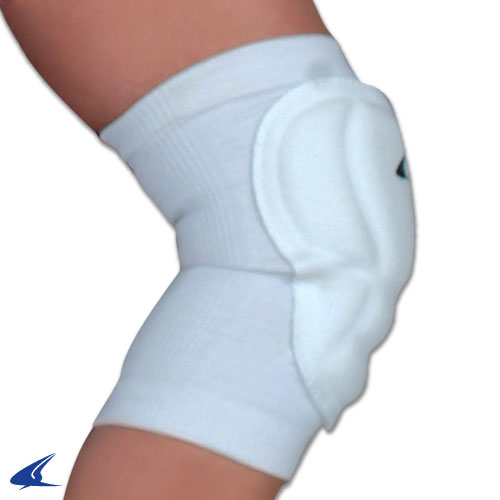 CHAMPRO High Compression/Low Profile Volleyball Knee Pad Adult White
