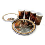 MotorHead Products MHP-WW-0006 Upland Game Birds 12 Piece Tableware Set