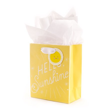 Hallmark Small Yellow Gift Bag with Tissue Paper (Hello Sunshine) - Shine Paper