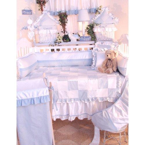 Brandee Danielle Prince Blue Decorator Cotton Throw Pillow