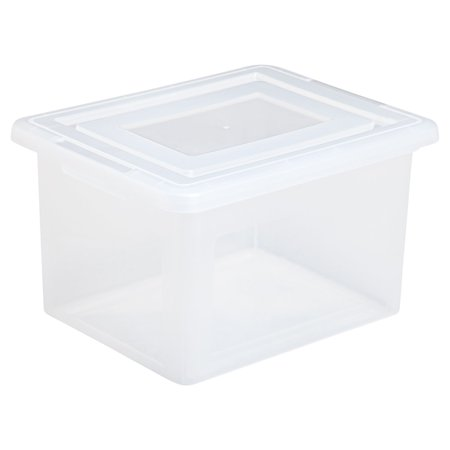 IRIS Letter and Legal Size Hanging File Storage Box, Clear Set of 4 ()
