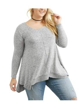 88926a550e28 Juniors Plus Sweaters - Walmart.com