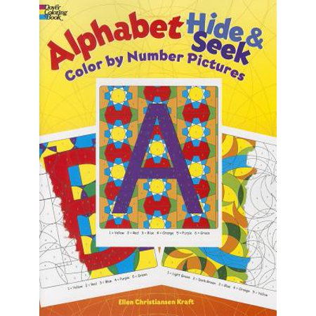 Alphabet Hide & Seek : Color by Number Pictures