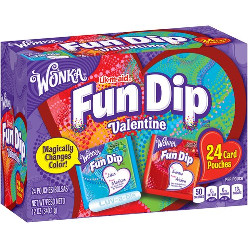Wonka Fun Dip Valentine's Card Packet, 24 ct