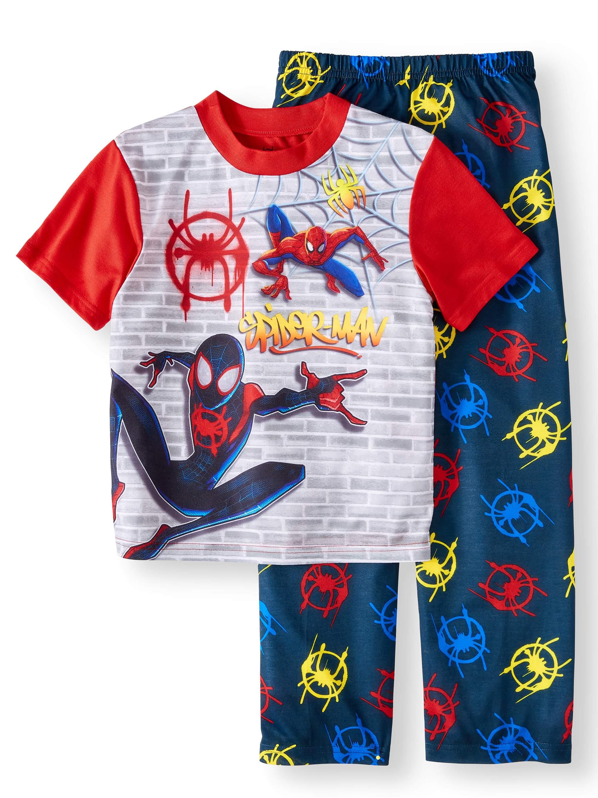 Boys' Spiderman 2 Piece Pajama Sleep Set (Little Boy & Big Boy)