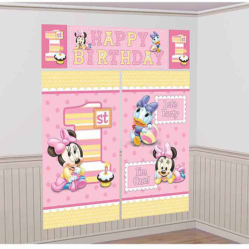 Disney Minnie Mouse 1st Birthday Scene Setter
