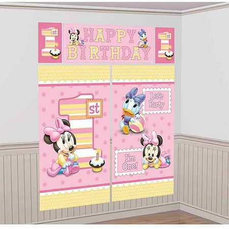 Disney Minnie Mouse 1st Birthday Scene Setter](Minnie Mouse Birthday Backdrop)