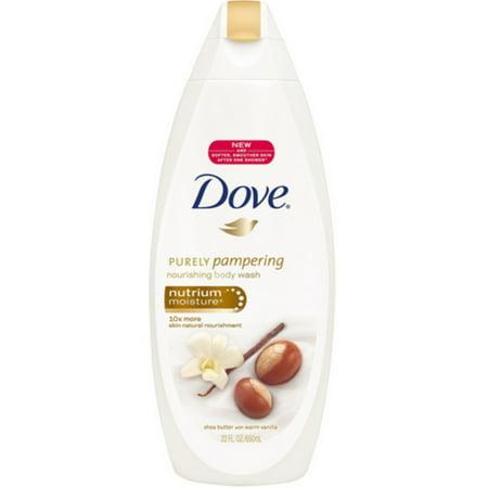 Dove Nutrium Moisture Body Wash, Shea Butter 24 oz (Pack of 3)