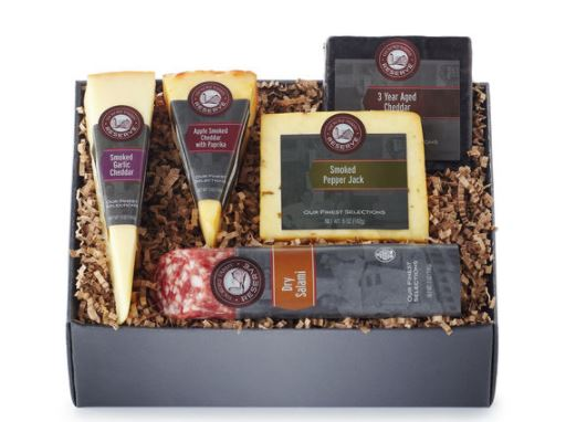 Hickory Farms Gift Box Smoked Cheese Pepper Jack and Salami Set 1.6 pounds Hickory Farms... by