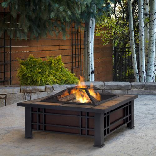 Real Flame Morrison 33.6 in. L x 33.6 in. W x 17.9 in. H Outdoor Firepit by Overstock