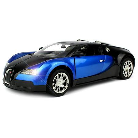 licensed bugatti veyron 16 4 super sport remote control rc car big 1 14 scale size w bright led. Black Bedroom Furniture Sets. Home Design Ideas
