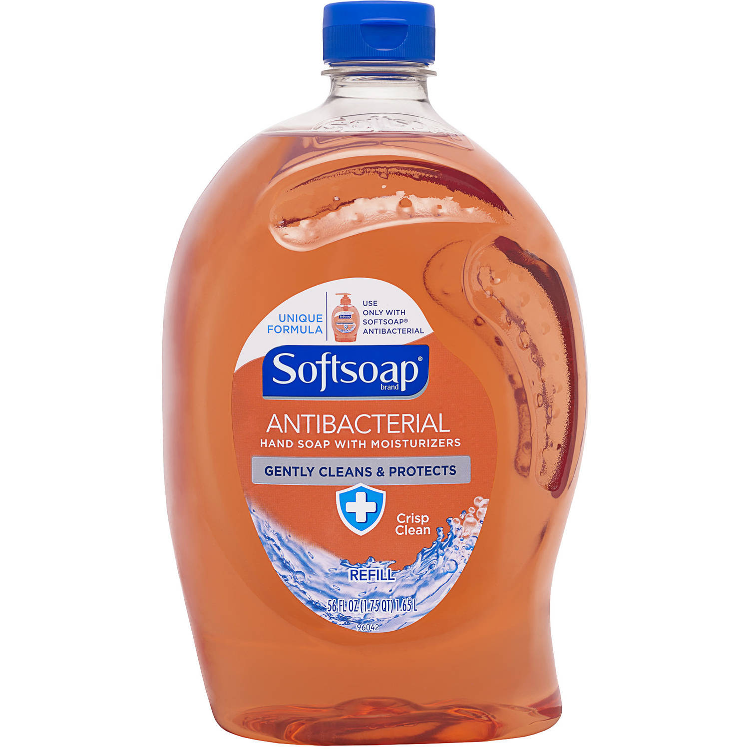 Softsoap Liquid Hand Soap Refill, Antibacterial Crisp Clean, 56 Fluid Ounce