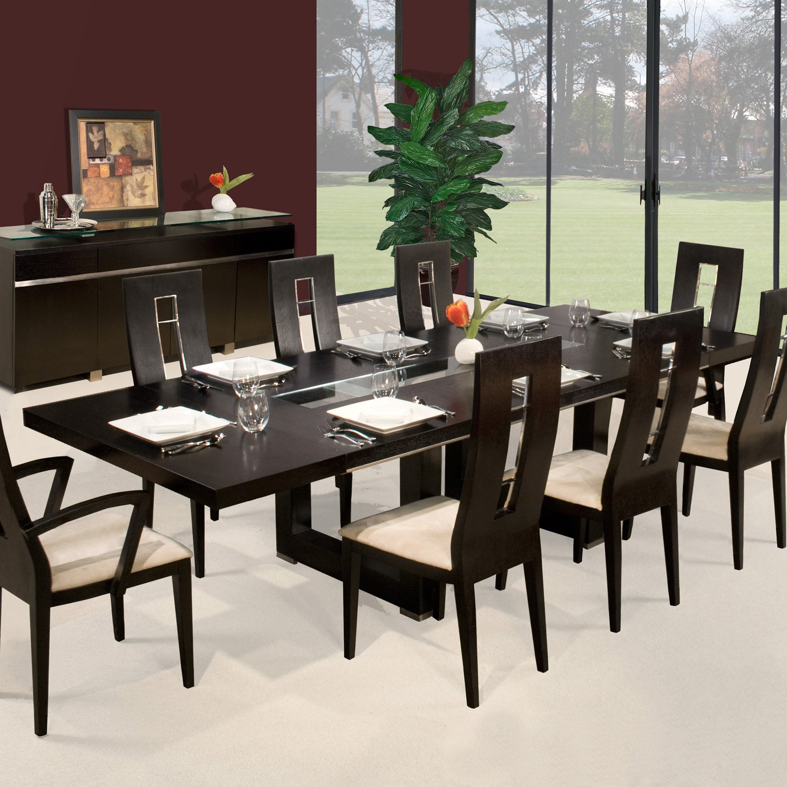 Novo Rectangular Extendable Dining Table - Wenge