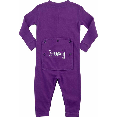 Personalized Toddler Name Long John, Purple