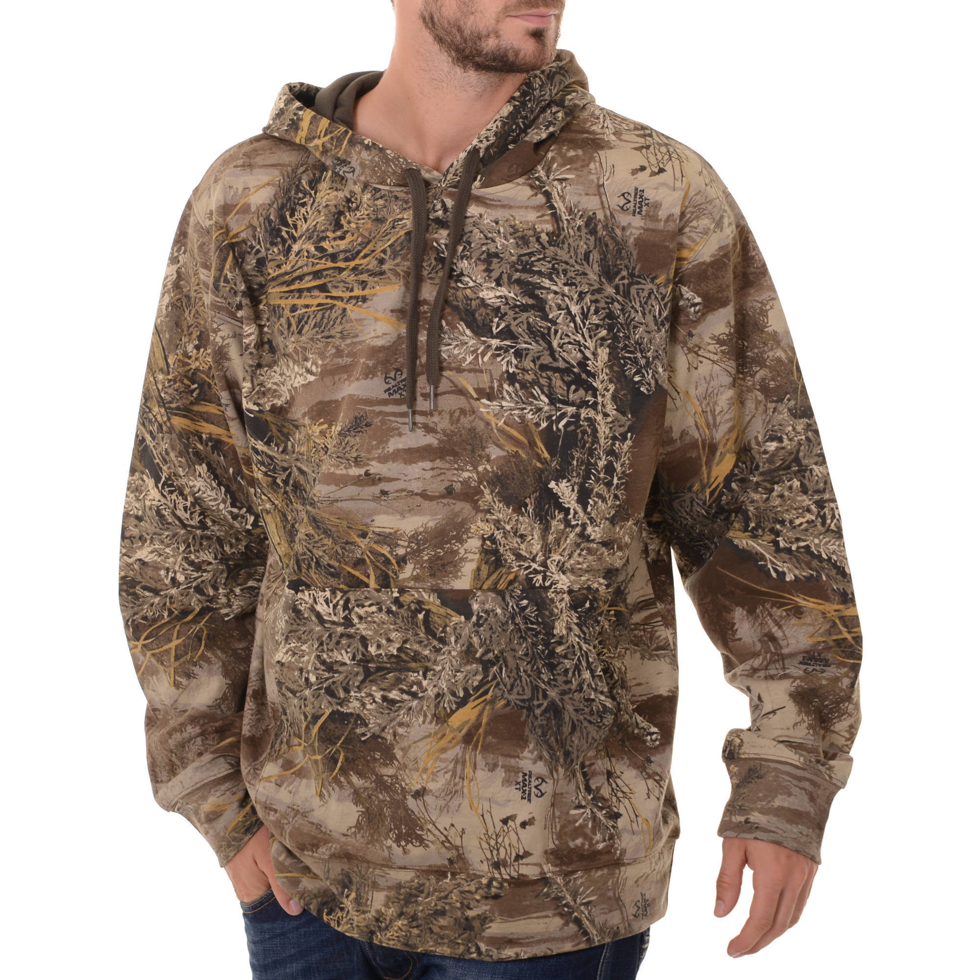 and Mossy Oak Mens Camo Performance Pullover Fleece Hoodie by IVORY DIV OF INTRADECO