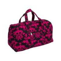 1c0e81a1ab3c Product Image Silver Lilly Weekender Quilted Carry On Overnight Duffel Bag