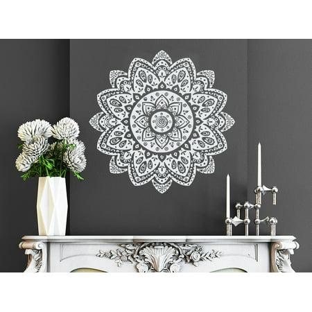 Wall Decal Mandala Vinyl Sticker Decals Namaste Lotus Flower Mural Art  Bedroom