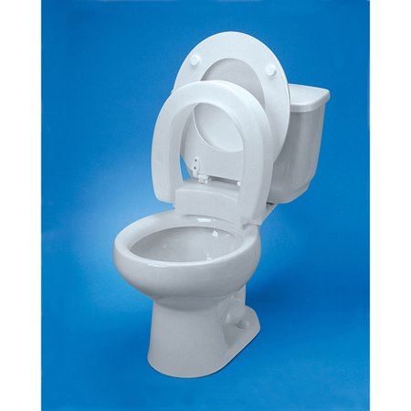 Tall Ette Hinged Elevated Toilet Seat Elongated 350lb