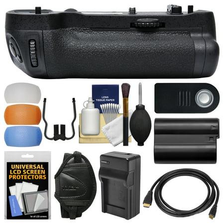 D500 Compressor - Vivitar MB-D17 Pro Series Multi-Power Battery Grip for Nikon D500 DSLR Camera + EN-EL15 Battery & Charger + Remote + Wrist Strap + Flash Diffusers Kit