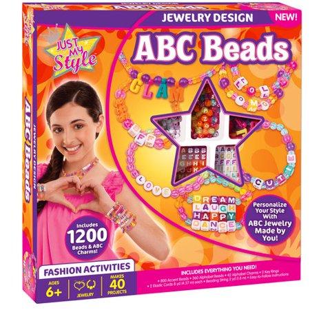 Just My Style Abc Beads Kit Jewelry Design