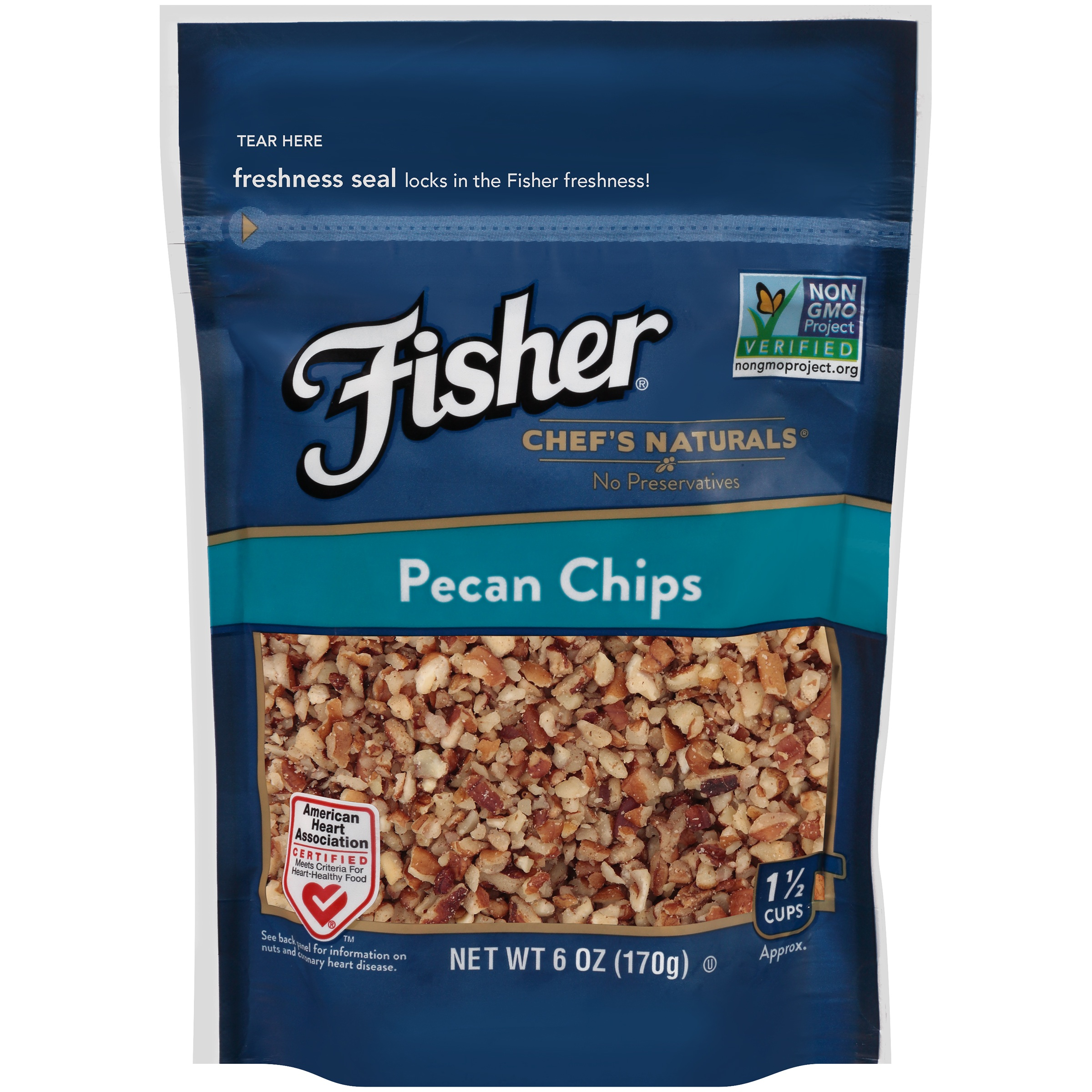 Fisher Chef's Naturals Pecan Chips, 6 oz by John B. Sanfilippo & Son, Inc.