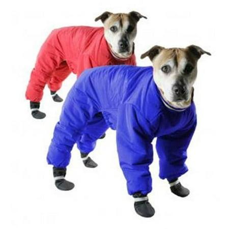 002019 Muttluks Four Legged Nylon Reversible Snowsuit, Red/Blue, 8