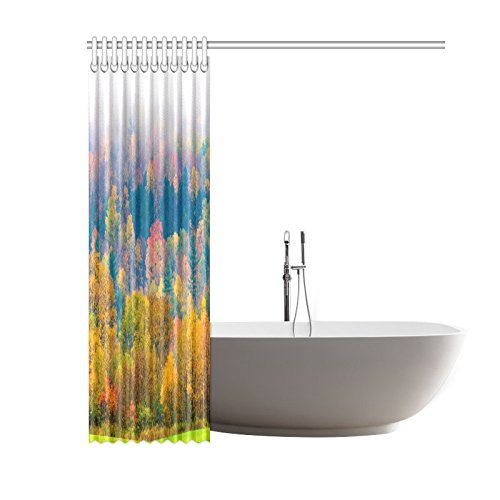 GCKG Fall Foliage Shower Curtain, Field of Trees Polyester Fabric Shower Curtain Bathroom Sets with Hooks 60x72 Inches - image 1 de 3