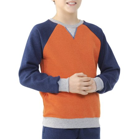Boys' Explorer Fleece Super Soft Raglan Crew Neck (Fleece Raglan Sweatshirt)