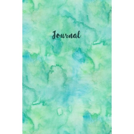 Bullet Journals: Journal: Bullet Journal Blue Green Watercolor Notebook for Women Girls Dotted Grid 100 Blank Dot Grid Pages Planner Journal Sketchbook Diary (6 X 9) Softbound Cover (Paperback)