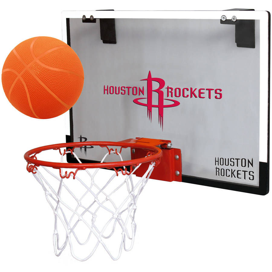 Rawlings NBA Game On Polycarb Hoop Set Houston Rockets