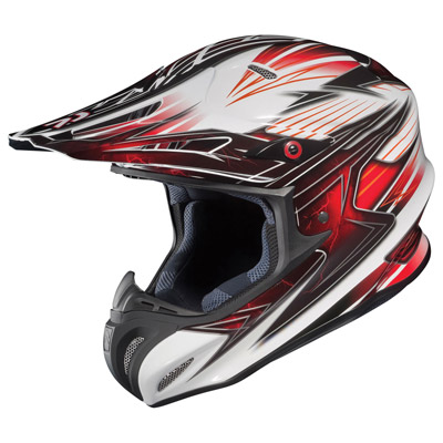 HJC RPHA-X Factor MX/Offroad Helmet White/Black/Red