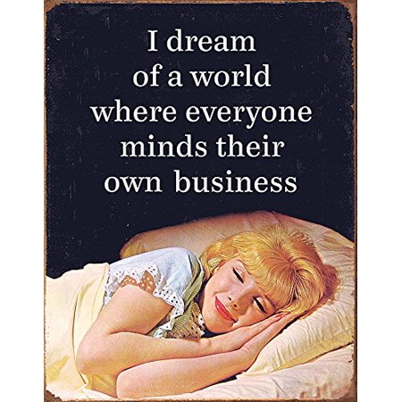 Mind Their Business Tin Sign 16 x 13in, Brand New Original! Nice Decorative Gift Tin Wall Sign! By Tin Signs
