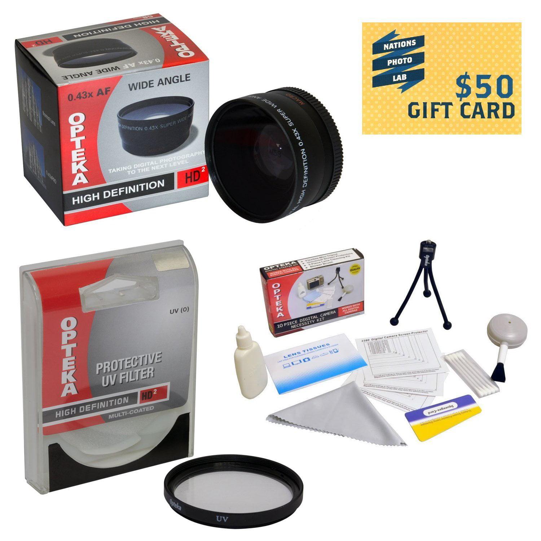 0.43x High Definition II Wide Angle Panoramic Macro Fisheye Lens For Sony Alpha NEX-6 NEX-7 NEX-3N NEX-5T... by Opteka