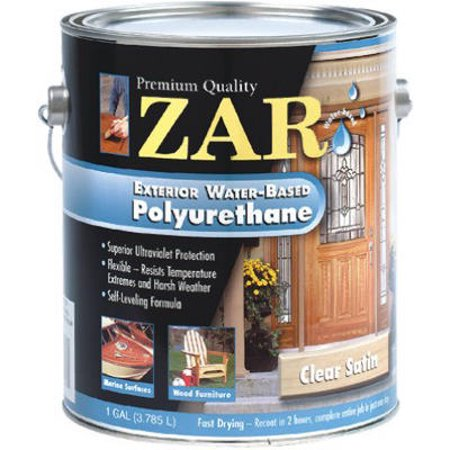 Zar exterior water based polyurethane satin gallon pack of 2 for Zar exterior water based polyurethane