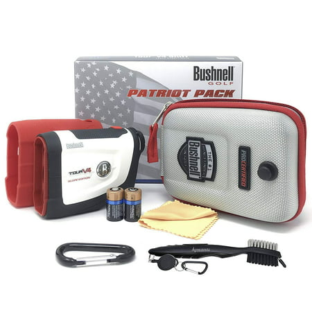 Bushnell Tour V4 Shift Laser Golf Rangefinder (Patriot Pack+Battery+