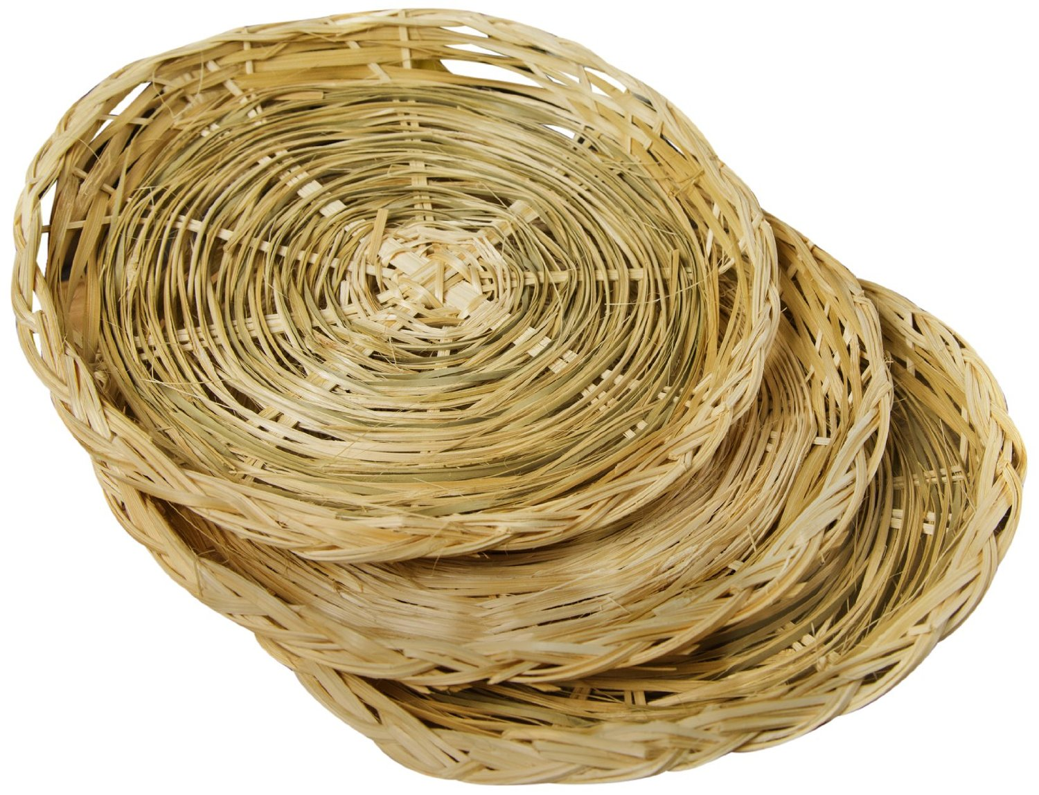 "Fox Run 9"" Paper Plate Holders Support Set Of 4 Woven Rattan Basket Picnic New by Fox Run"