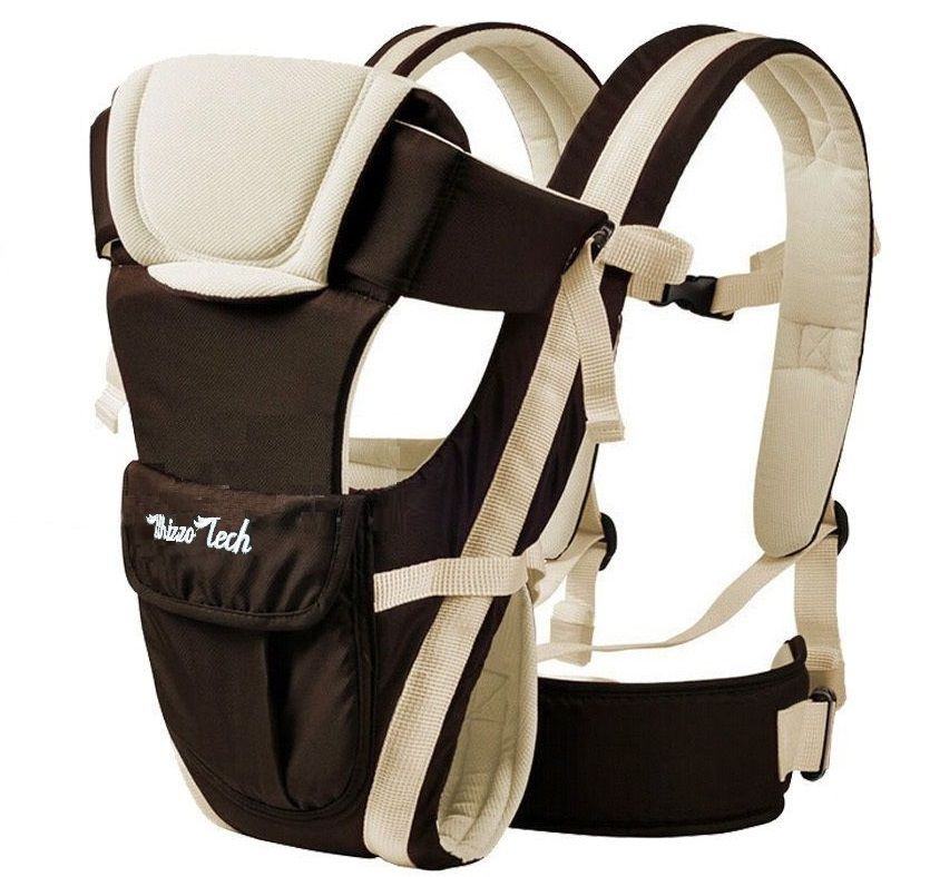 Adjustable Newborn Infant Baby Carrier Comfortable Baby Wrap Rider Sling Baby Carriers Backpack -Khaki by Whizzotech