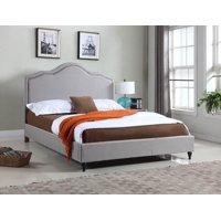 """HomeLife® 51"""" Light Grey Curved Platform Bed Frame"""
