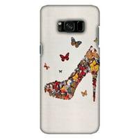 Samsung Galaxy S8 Designer Case, Premium Handcrafted Printed Designer Hard ShockProof Case Back Cover for Samsung Galaxy S8 SM-G950 - Butterfly High Heels