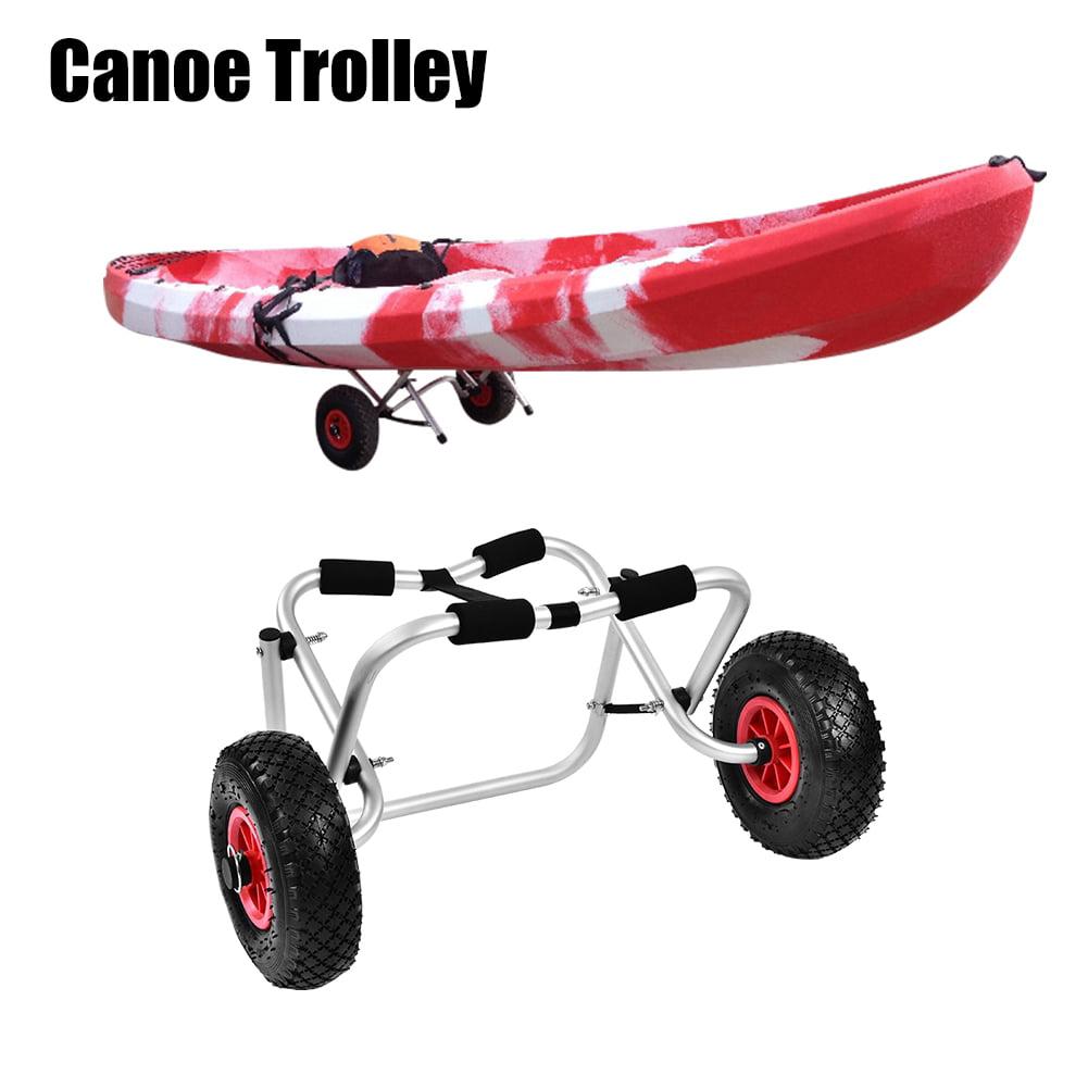 Lv. life Aluminium Alloy Kayak Canoe Wheel Dolly Boat Carrier Trolley Cart Transport,Kayak Trolley, Canoe Trolley