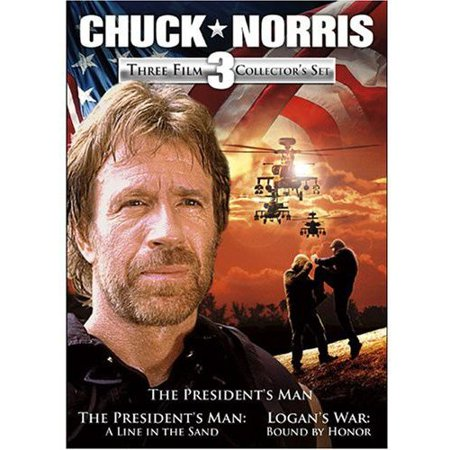 Chuck Norris  Three Film Collectors Set   The Presidents Man   The Presidents Man  A Line In The Sand   Logans War  Bound By Honor