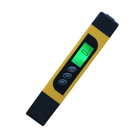 16.2x2.9cm 3 in 1 Intelligent Backlight Multi-functional Water Quality Testing Device Detection Pen (Yellow) ()