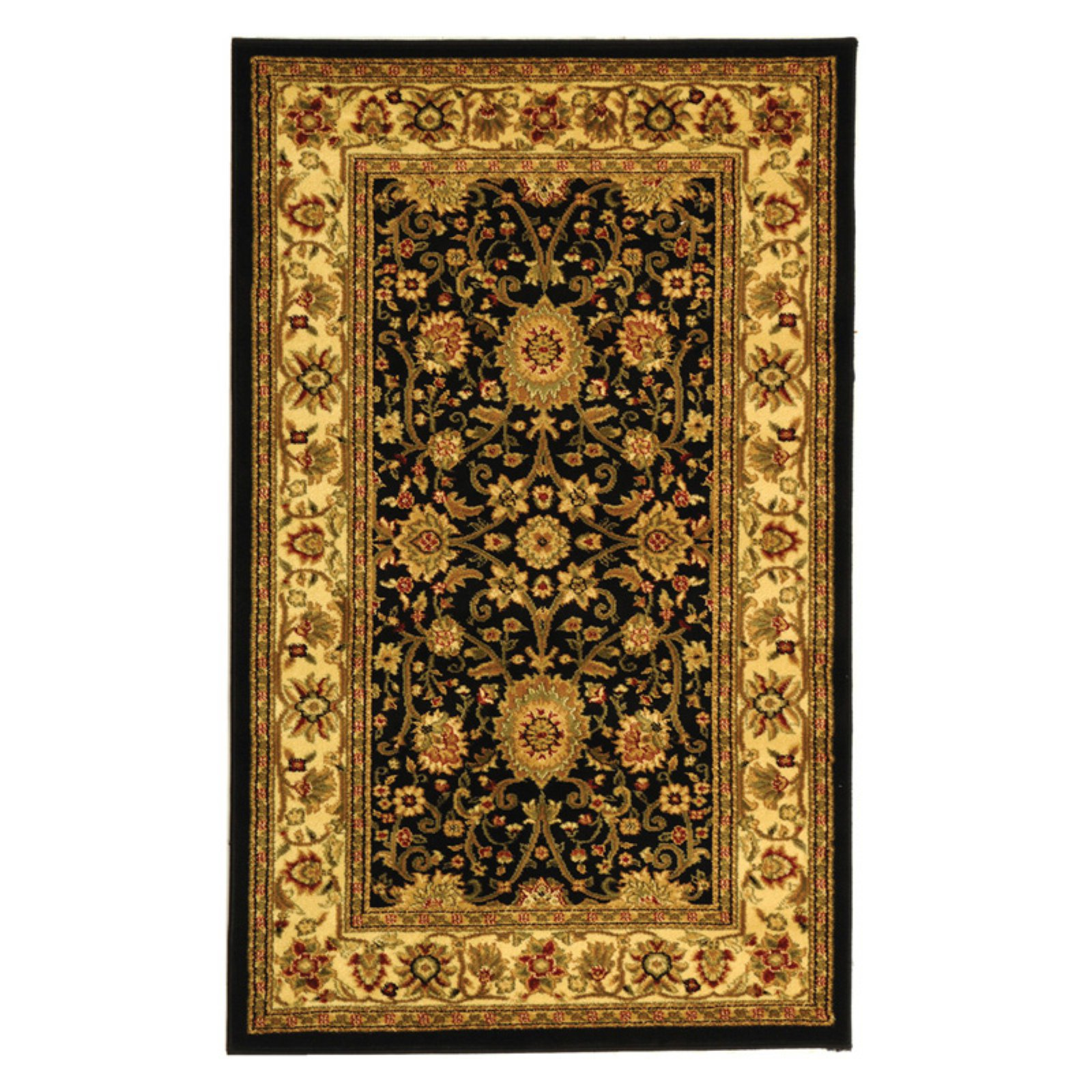 Safavieh Lyndhurst LNH212A Area Rug - Black/Cream