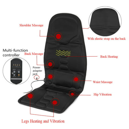 SAYFUT Massage Cushion with Heat | Back Massage Chair with Deep Kneading and Vibration Plus Programmable Remote | Portable for Home or Office | Black - image 4 of 6