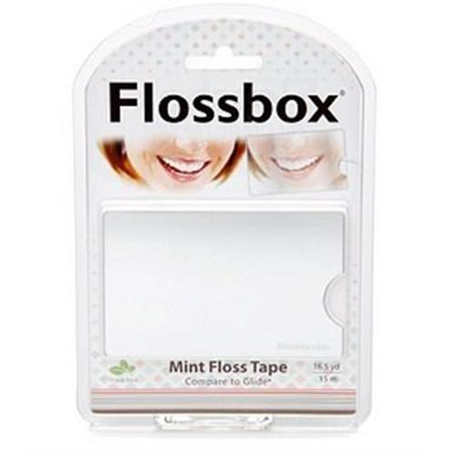 StaiNo Flossbox Mint floss Tape with Mirror 16.5 yd, 1 ea (Pack of 6)